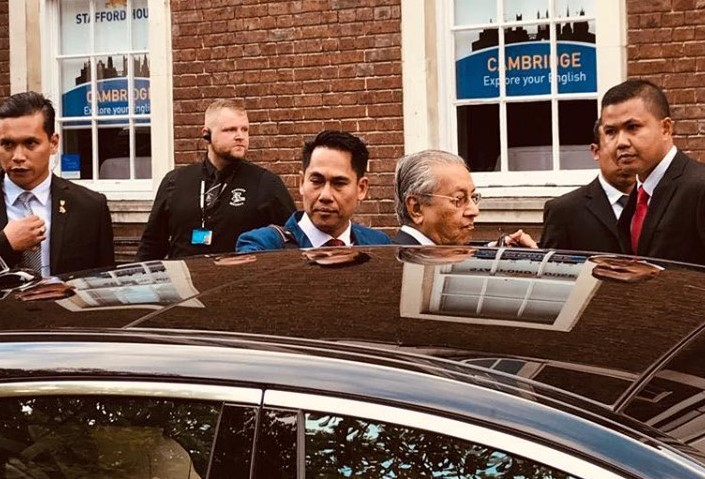 Regency Security looks after Malaysian Prime Minister during UK visit